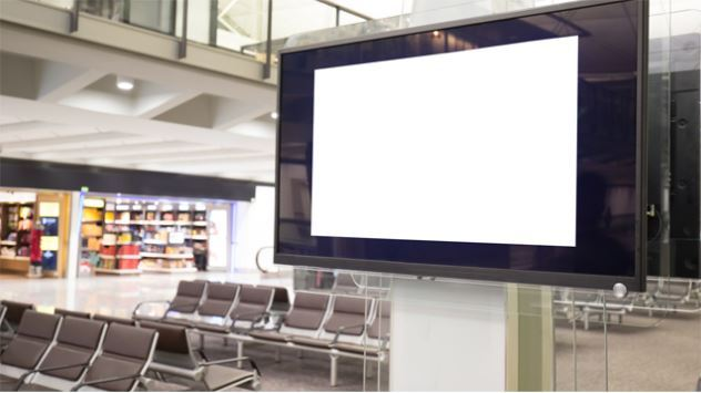 Advertise on TV in public places